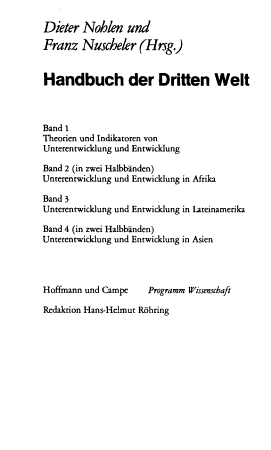 Handbuch der Dritten Welt PDF