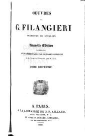Oeuvres de G. Filangieri, traduites de l'italien: Volume2
