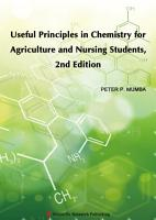 Useful Principles in Chemistry for Agriculture and Nursing Students  2nd Edition PDF