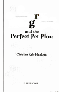 Mary Margaret and the Perfect Pet Plan PDF