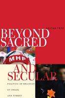 Beyond Sacred and Secular PDF