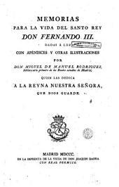 Memorias para la vida del santo rey don Fernando III.