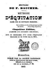Méthode d'équitation basée sur de nouveaux principes
