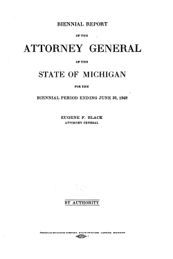 Biennial Report of the Attorney General of the State of Michigan PDF