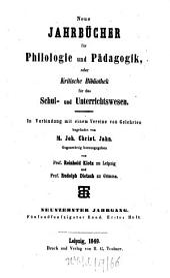 Neue Jahrbücher für Philologie und Pädagogik: Band 55