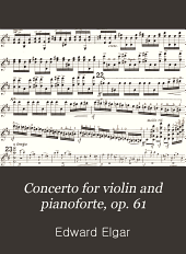 Concerto for violin and pianoforte, op. 61