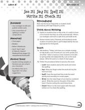 Writing Lesson Level 3--See It! Say It! Spell It! Write It!