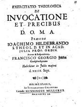 Exercitatio Theologica De Invocatione Et Precibus