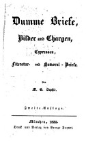 Dumme Briefe  Bilder und Chargen  Cypressen  Literatur  und Humoral Briefe PDF