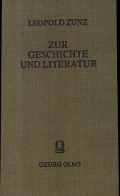 Zur Geschichte und Literatur: Band 1