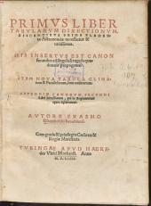 Primus Liber Tabularum Directionum