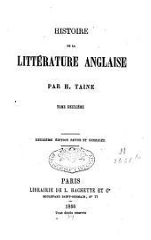Histoire de la littérature anglaise: T. 2, Volume3