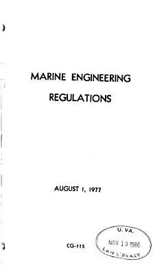 Marine Engineering Regulations PDF
