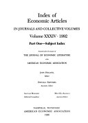 Index of Economic Articles in Journals and Collective Volumes PDF