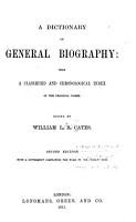 A Dictionary of General Biography PDF