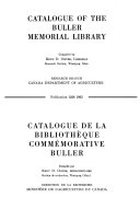 Download Catalogue de la Bibliotheque commemorative Buller Book