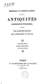 Mémoires des antiquaires de France: 1817-1869, Volume17