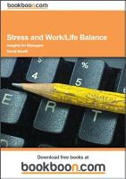 Stress and Work Life Balance PDF