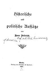 Historische und politische Aufsätze: Band 1