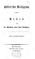 Ueber die Religion PDF