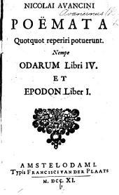 Poesis lyrica ... Qua continentur Lyricorum libri IV. et Epodon liber unus