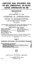 108-1 Hearings: Agriculture, Rural Development, Food and Drug Administration, Etc., Part 6, 2004, *