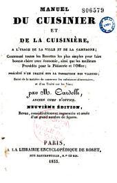 Manuel du cuisinier et de la cuisinière, à l'usage de la ville et de la campagne...