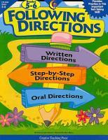 Following Directions  Gr  5 6  eBook PDF