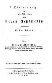 Einleitung in die Schriften des Neuen Testaments: Band 1