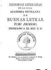 Memorias literarias de la Real Academia Sevillana de Buenas Letras