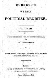 Cobbett S Weekly Political Register Book PDF