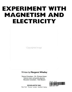Experiment with Magnetism and Electricity PDF