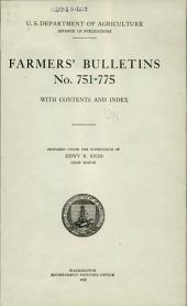 Farmers' Bulletin: Issues 751-775