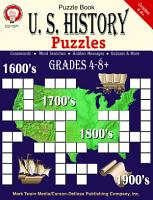 U S  History Puzzles  Grades 4   8 PDF