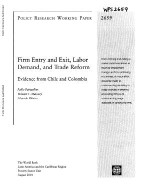 Firm Entry and Exit  Labor Demand  and Trade Reform PDF