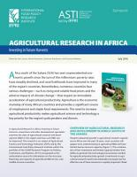 Synopsis  Agricultural research in Africa PDF
