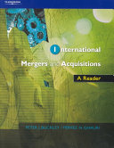 International Mergers and Acquisitions PDF