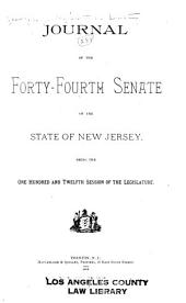Journal of the ... Senate of the State of New Jersey: Being the ... Session of the Legislature, Volume 112