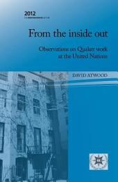 From the Inside Out: Observations on Quaker Work at the United Nations