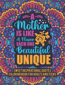 Sweet Inspirational Quotes Coloring Book For Adults And Teens