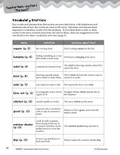 Owl at Home Vocabulary Activities