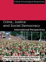 Crime  Justice and Social Democracy PDF