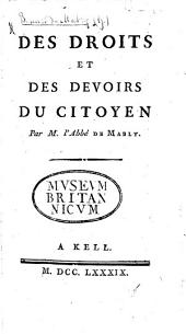 Des droits et des devoirs du citoyen
