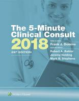 The 5 Minute Clinical Consult 2018 PDF