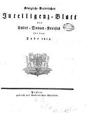 Königlich-Bayerisches Intelligenz-Blatt des Unterdonau-Kreises: 1815