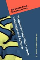 Happiness    and    Pain    across Languages and Cultures PDF