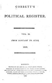 Cobbett's Political Register: Volume 9