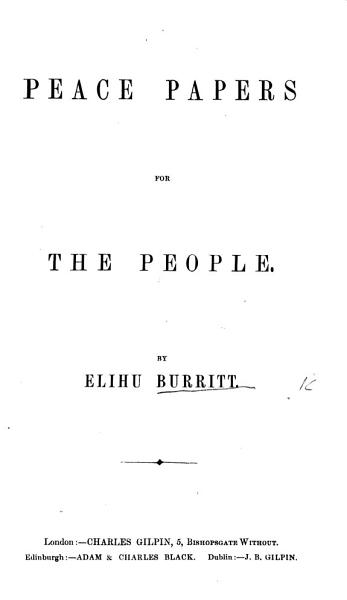 Download Peace Papers for the People Book