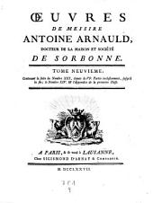 Oeuvres (publiees par les soins de l'abbe de Hautesage): Volume9
