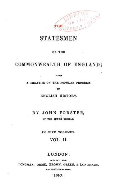 The Statesmen of the Commonwealth of England